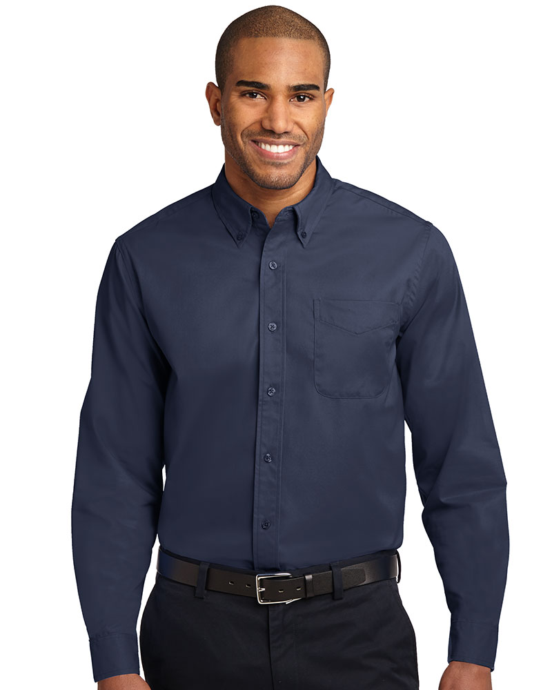 Port Authority Embroidered Mens Tall Long Sleeve Easy Care Shirt
