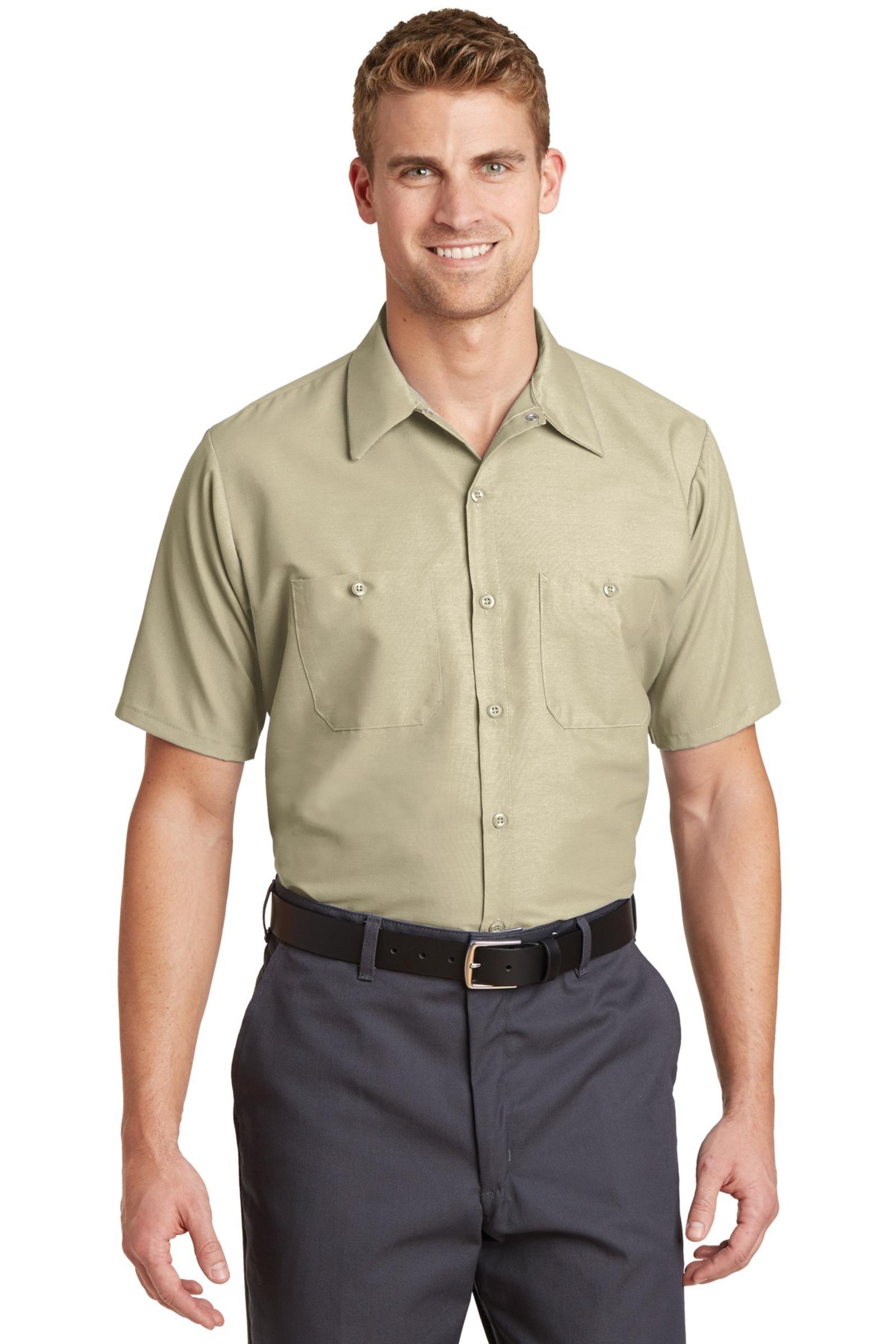 Red Kap Embroidered Men's Short Sleeve Industrial Work Shirt