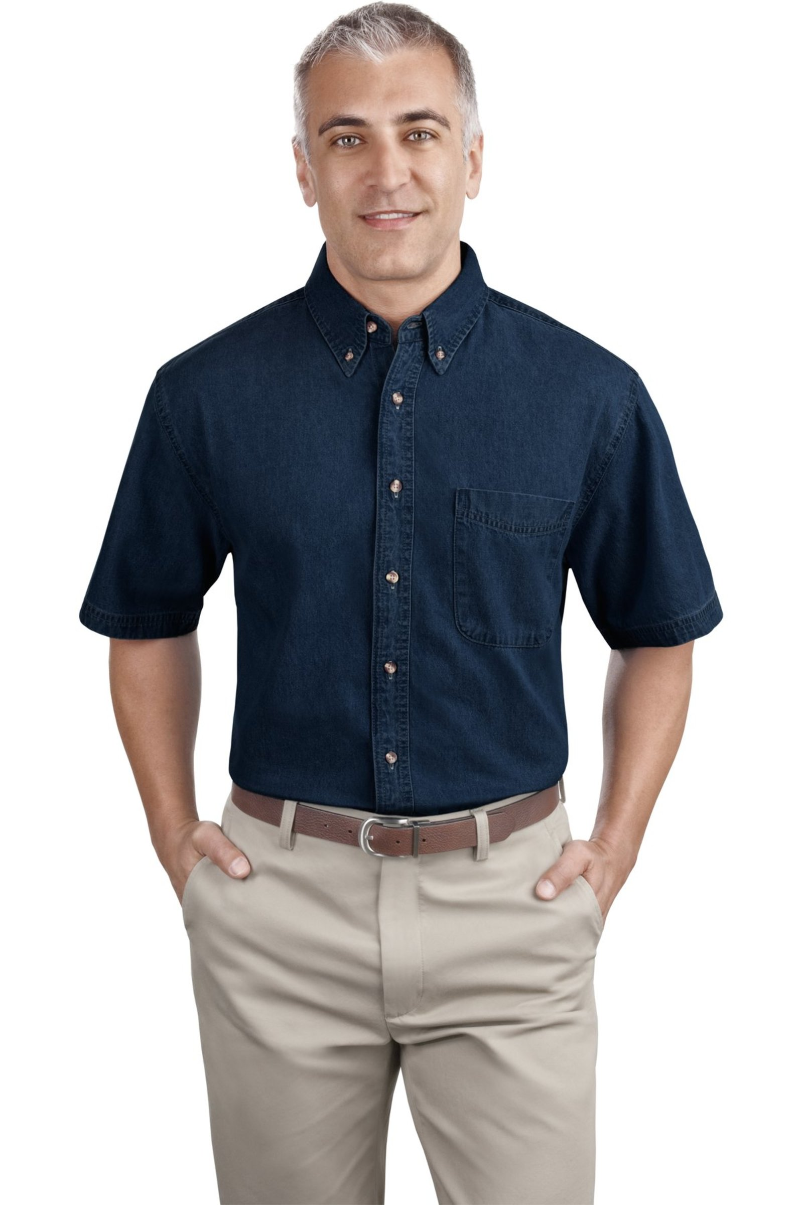 Port & Company Short Sleeve Denim Shirt