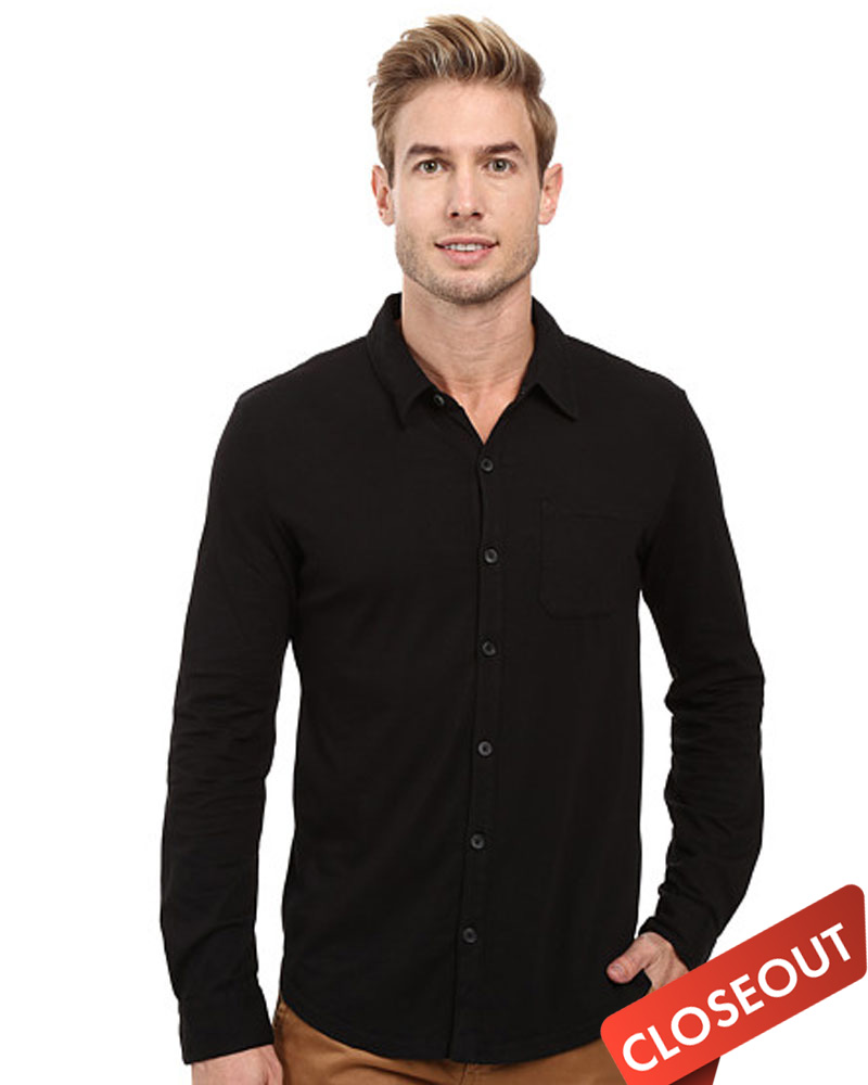 Queensboro LIFT Luxury Hybrid Jersey Button Down