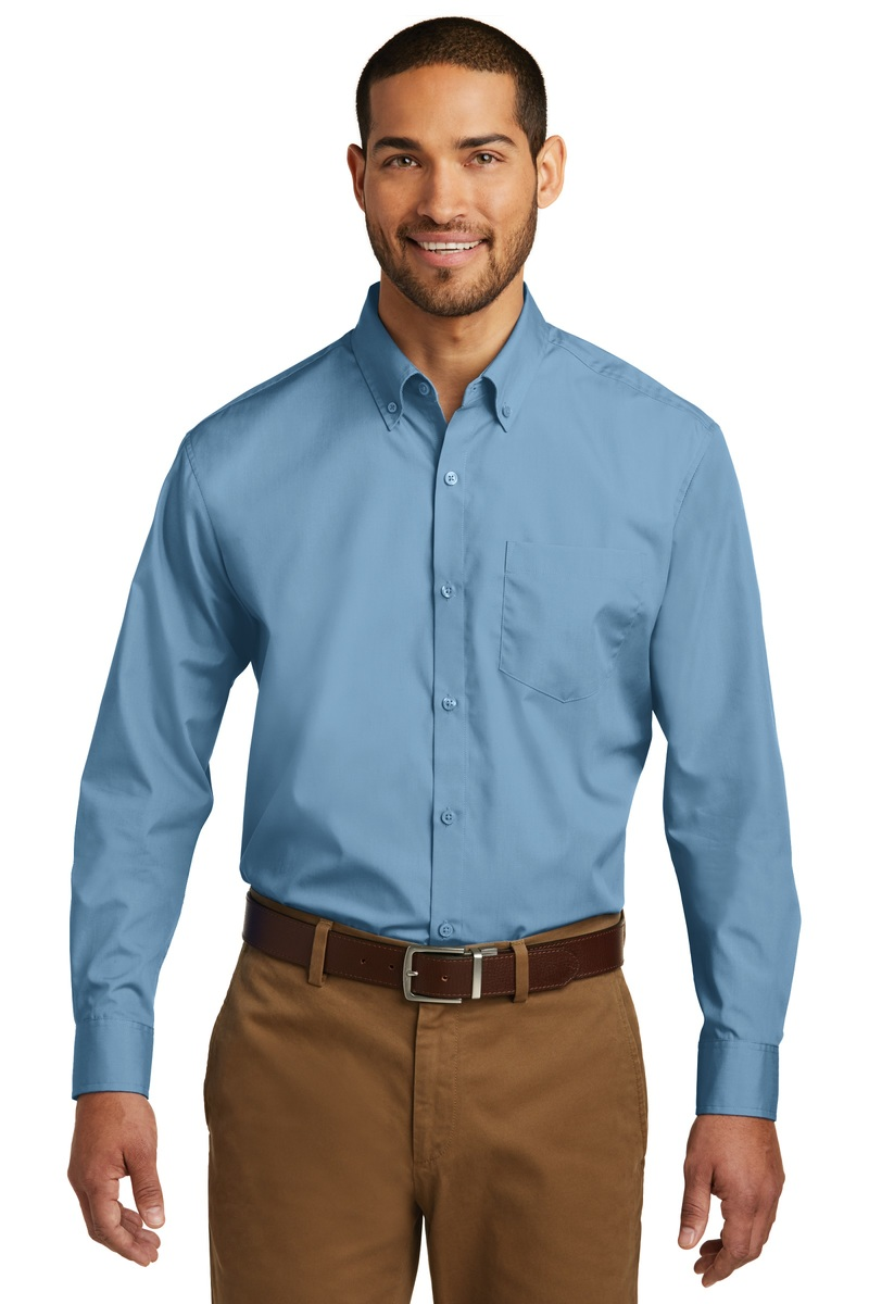 Port Authority Long Sleeve Carefree Poplin Shirt