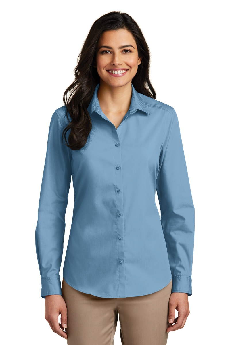 Port Authority Women's Long Sleeve Carefree Poplin Shirt