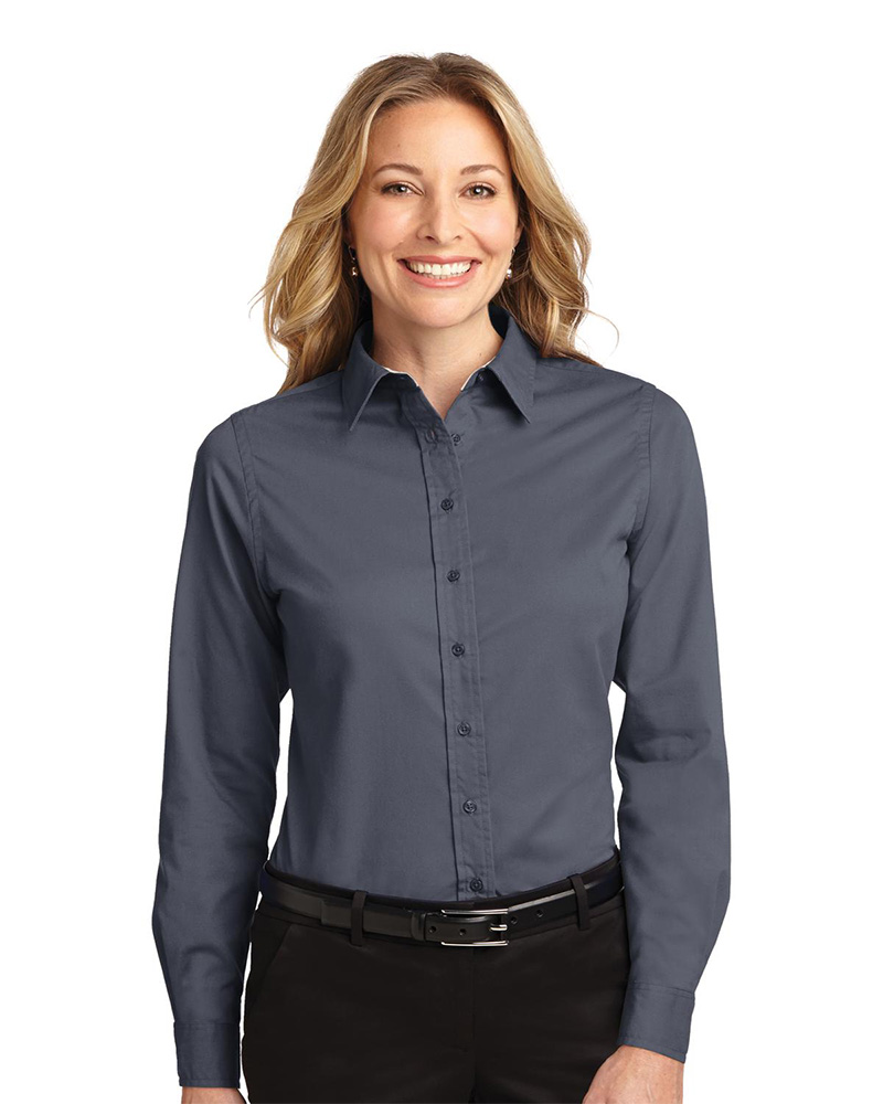 Port Authority Embroidered Women's Long Sleeve Easy Care Shirt