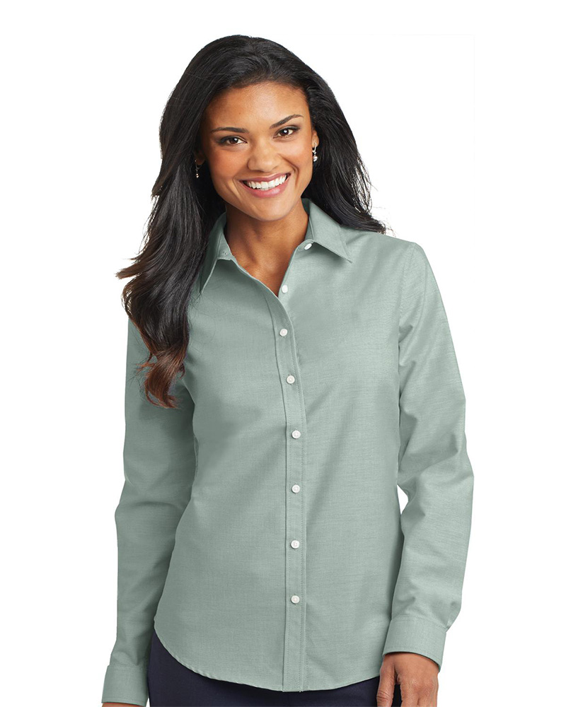 417ccfa54577 Port Authority Embroidered Women s SuperPro Oxford Shirt