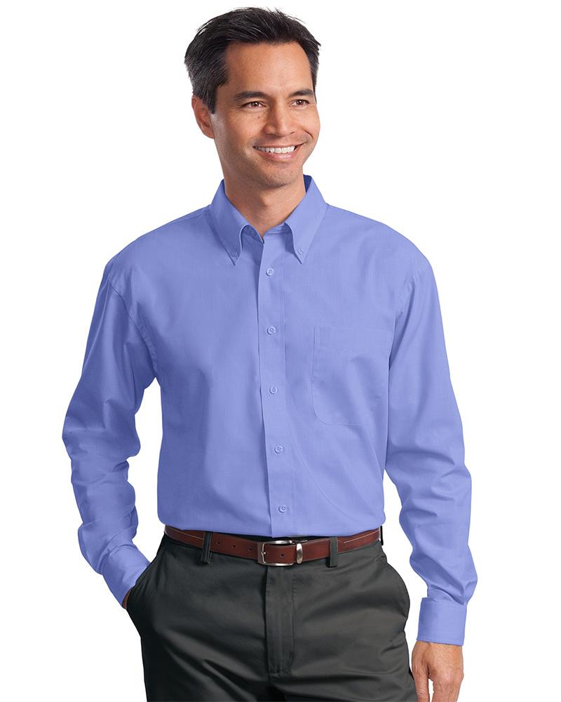 Port Authority Long Sleeve Poplin Shirt