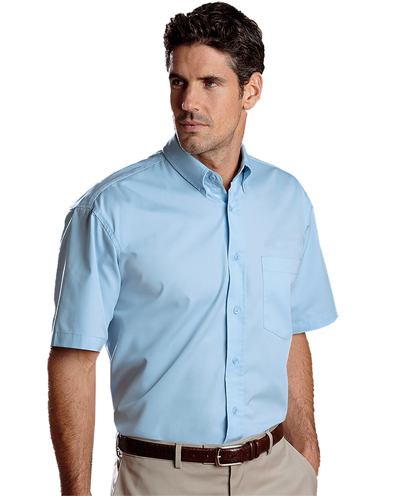 Men's Ultra Club Easy Care Fine Short Sleeve Twill
