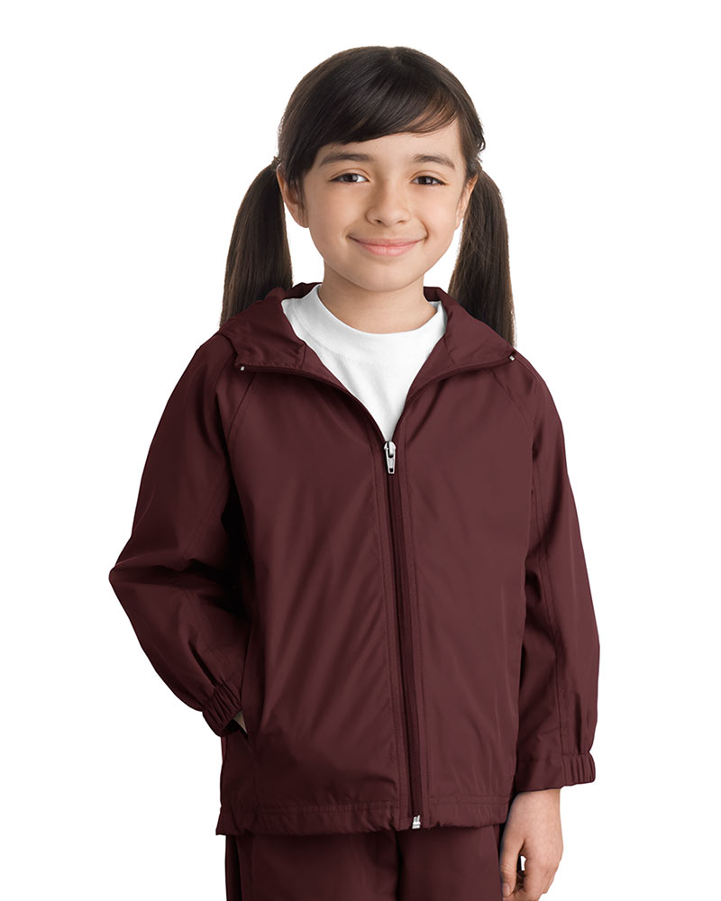 Sport-Tek Youth Hooded Weather Resistant Jacket