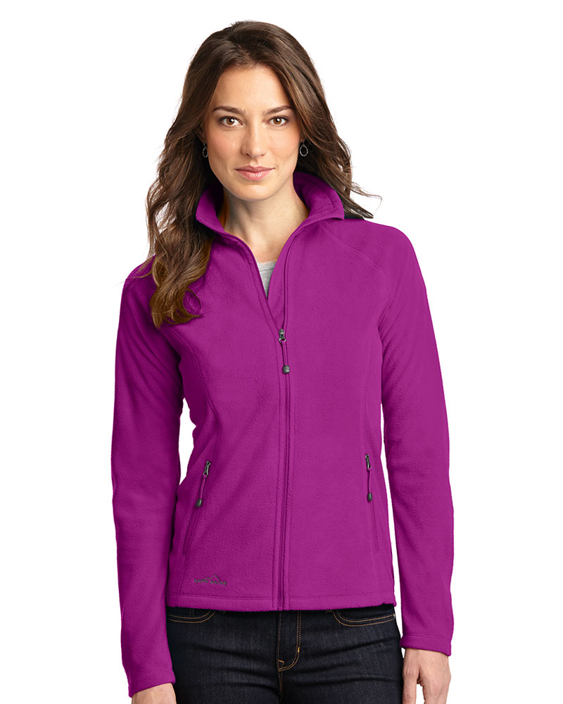 Eddie Bauer  Embroidered Women's Full-Zip Microfleece Jacket