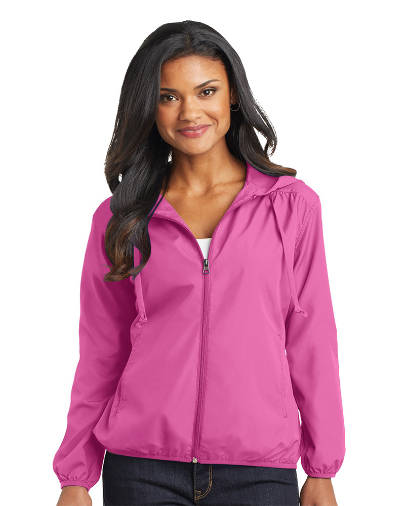 Port Authority  Embroidered Women's Hooded Essential Jacket