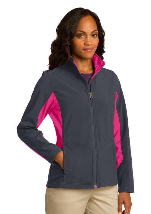 Port Authority  Embroidered Women's Core Colorblock Soft Shell Jacket