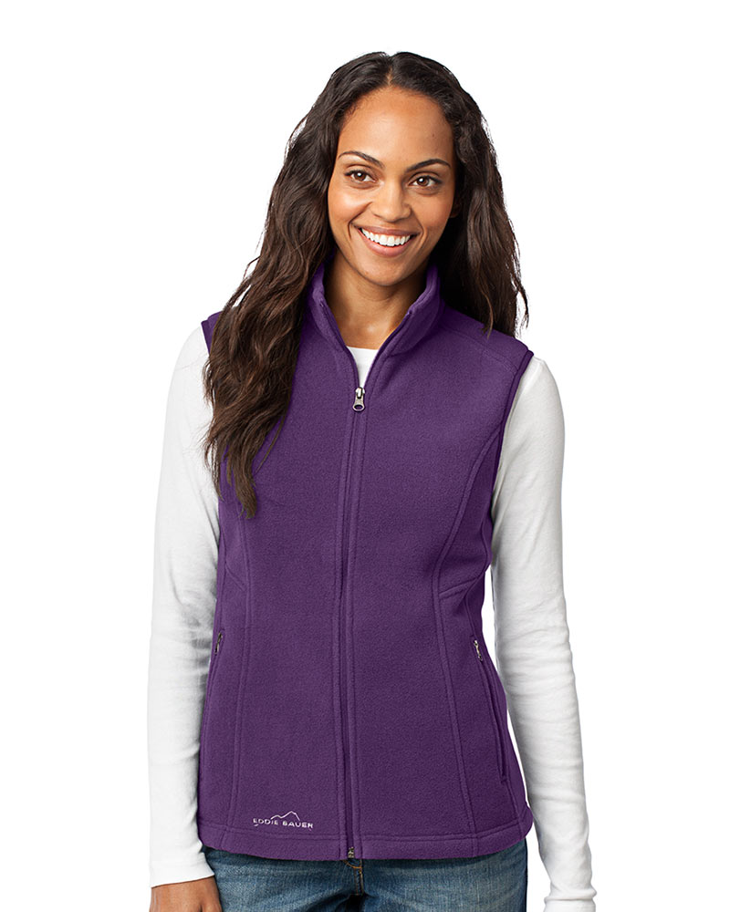 Eddie Bauer  Embroidered Women's Fleece Vest