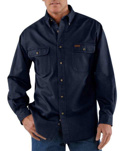 Embroidered carhartt oakman work shirt queensboro for Embroidered work shirts no minimum order