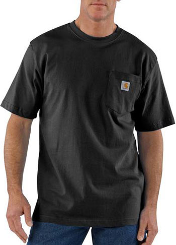 Carhartt short sleeve pocket work shirt queensboro for The queensboro shirt company