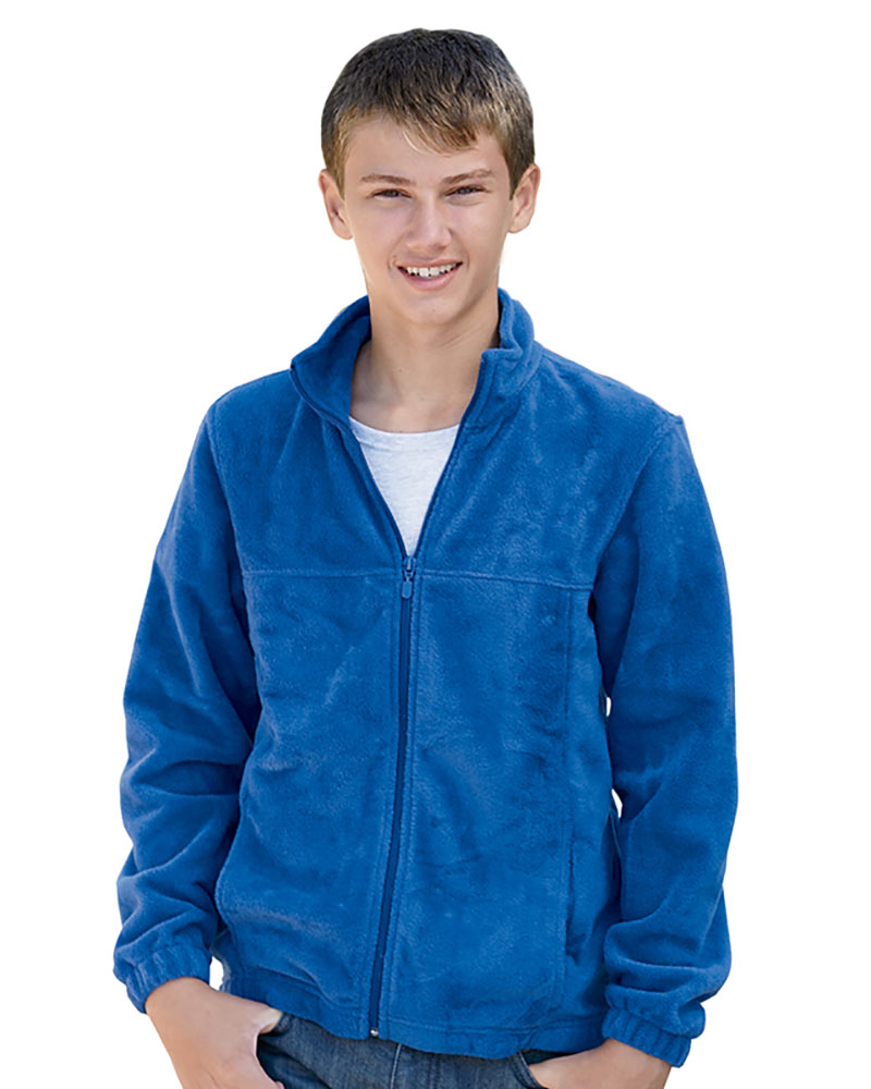 Harriton Youth 8 oz. Full-Zip Fleece