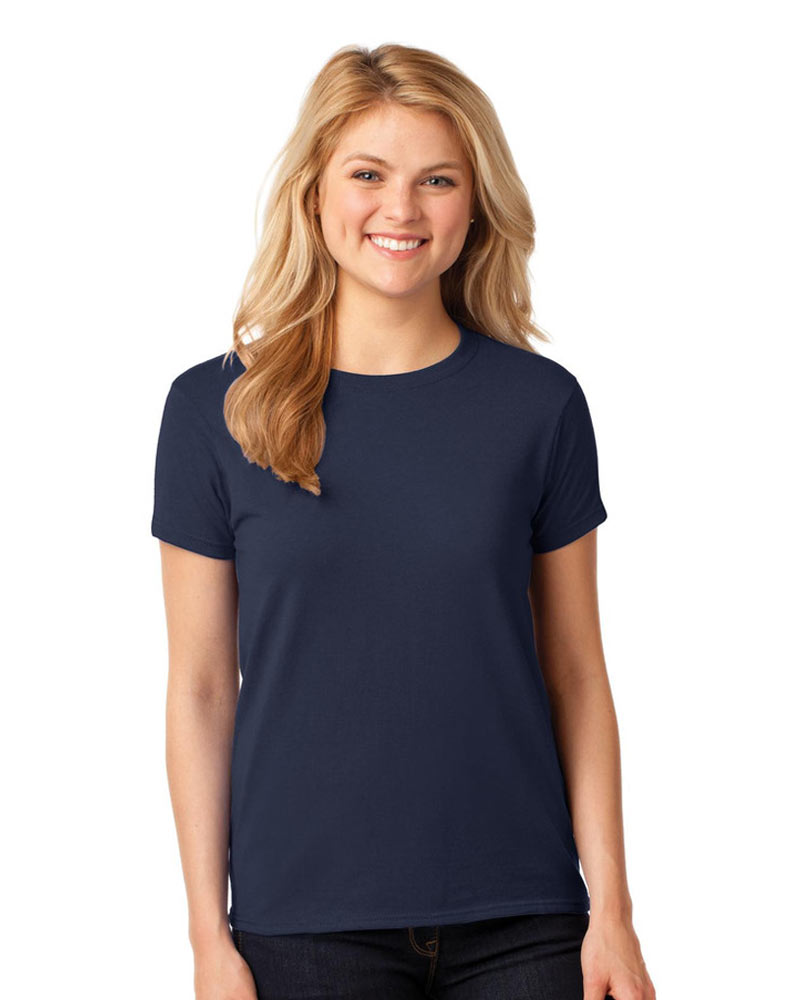 Printed Ladies Gildan Tee - One Logo Up To 5 Colors