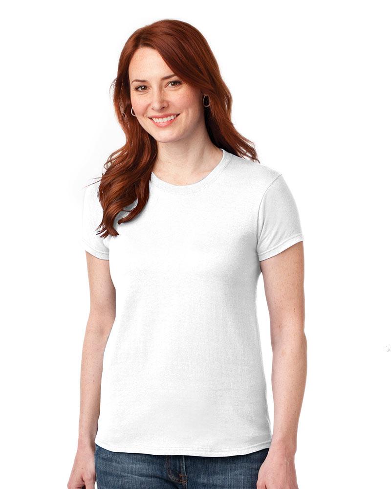 Printed Ladies Gildan Ultra Cotton Tee - Single Color Logo