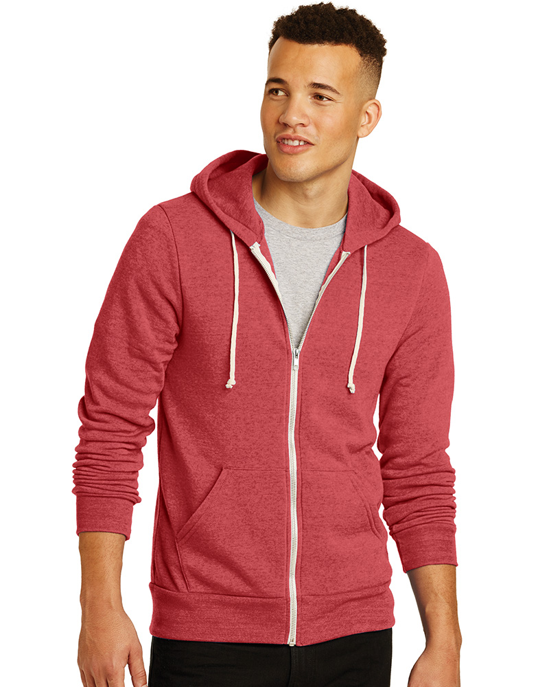 Alternative Embroidered Men's Rocky Eco-Fleece Zip Hoodie