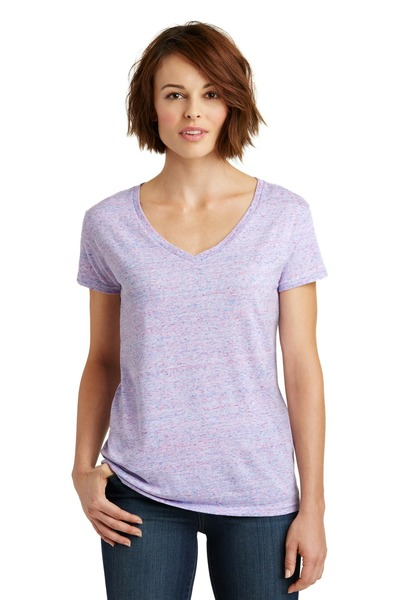 District Made Printed Women's Cosmic Relaxed V-Neck Tee