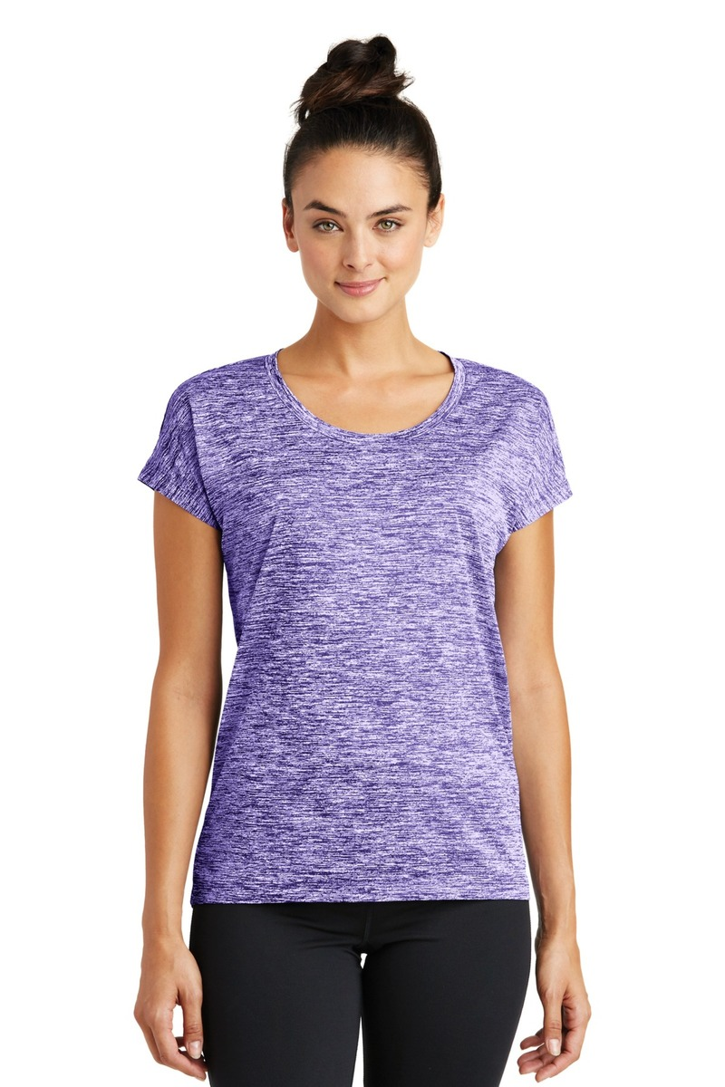 Sport-Tek Ladies PosiCharge Electric Heather Sporty Tee