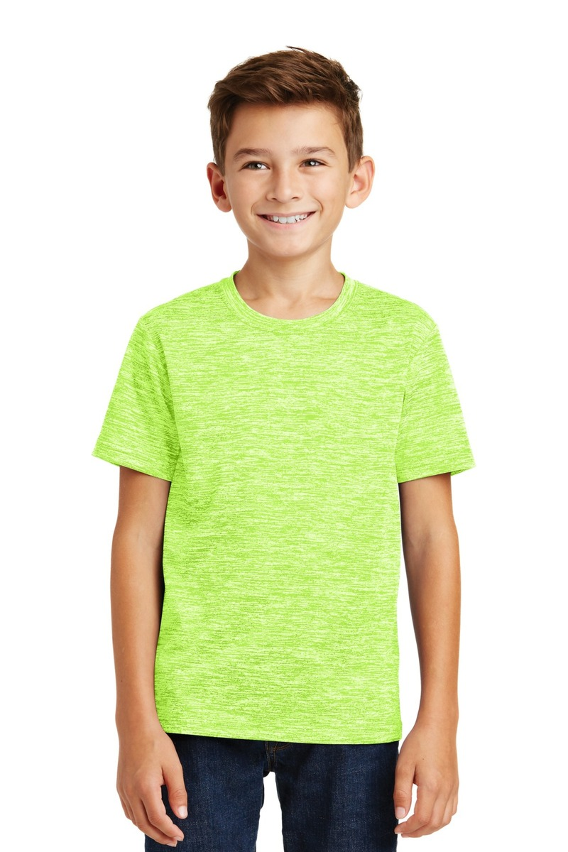 Printed Sport-Tek Youth PosiCharge Electric Heather Tee