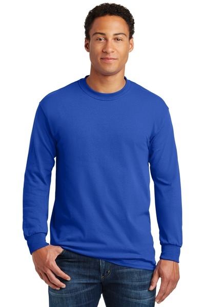 Gildan Embroidered Men's Heavy Cotton 100% Cotton Long Sleeve T-Shirt