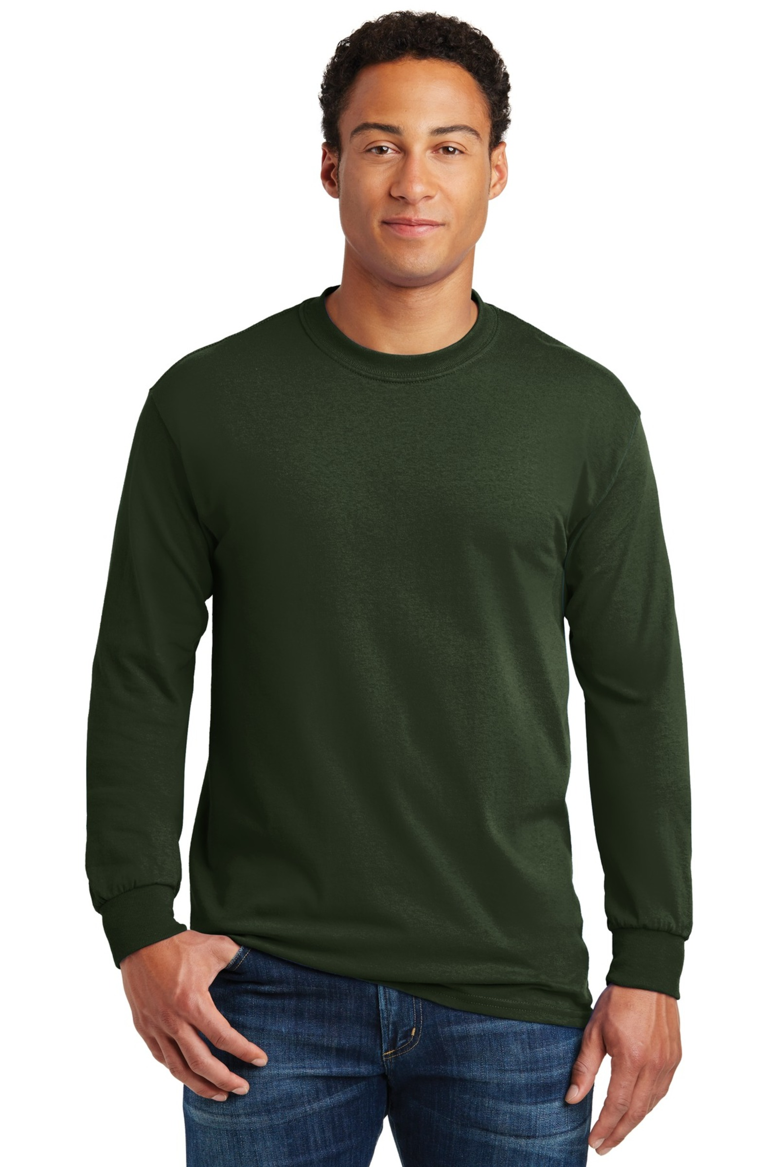 Gildan Printed Men's Heavy Cotton Long Sleeve T-Shirt