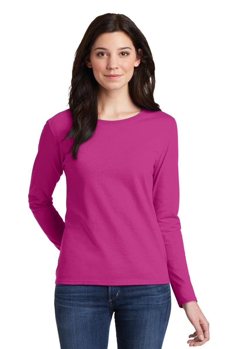 cb6d22723aa Gildan Embroidered Women's 100% Heavy Cotton Long Sleeve T-Shirt ...