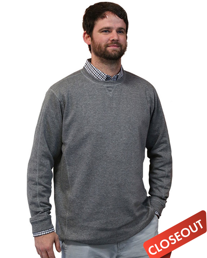 Borough Embroidered Men's Super-Soft Crewneck Sweatshirt