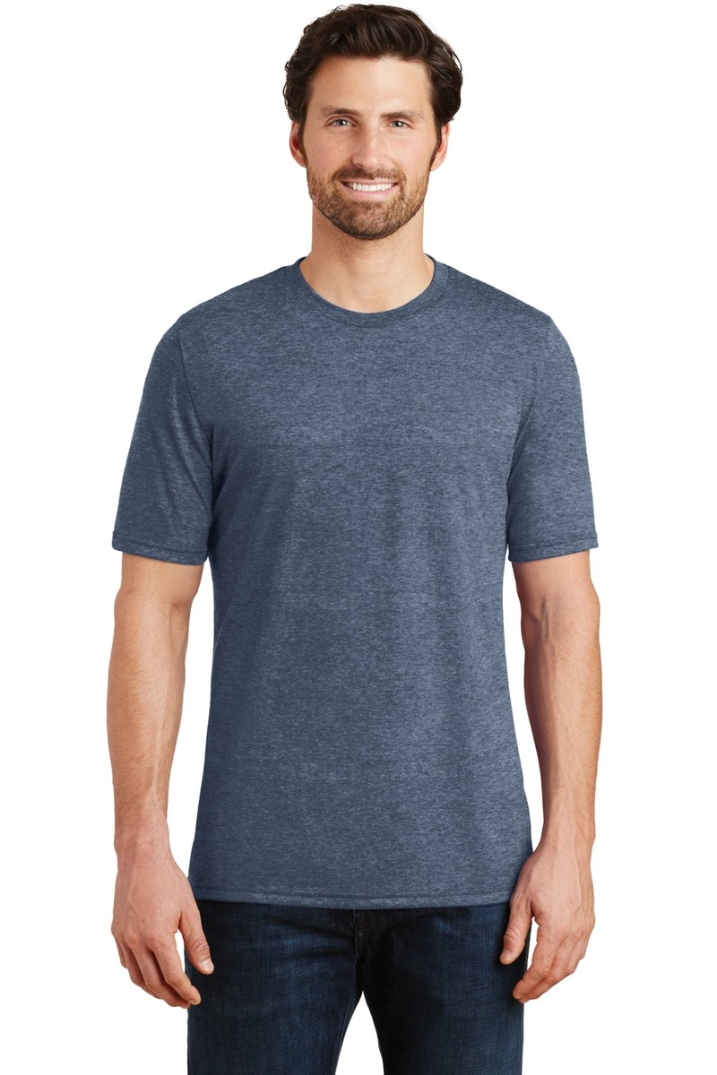 District Made Embroidered Men's Perfect Tri-Blend Crew Tee