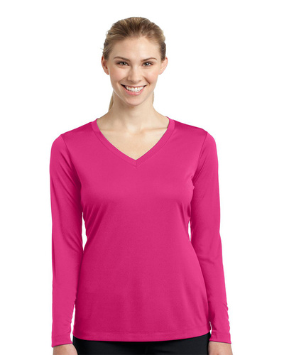 Sport-Tek Embroidered Women's Long Sleeve V-Neck Competitor Tee