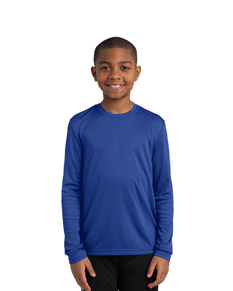 Printed Sport-Tek Youth Long Sleeve Competitor Tee