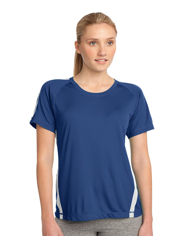 Sport-Tek Embroidered Women's Colorblock Competitor Tee