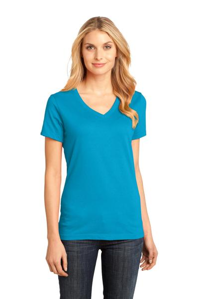 District Made Printed Women's Perfect Weight V-Neck Tee