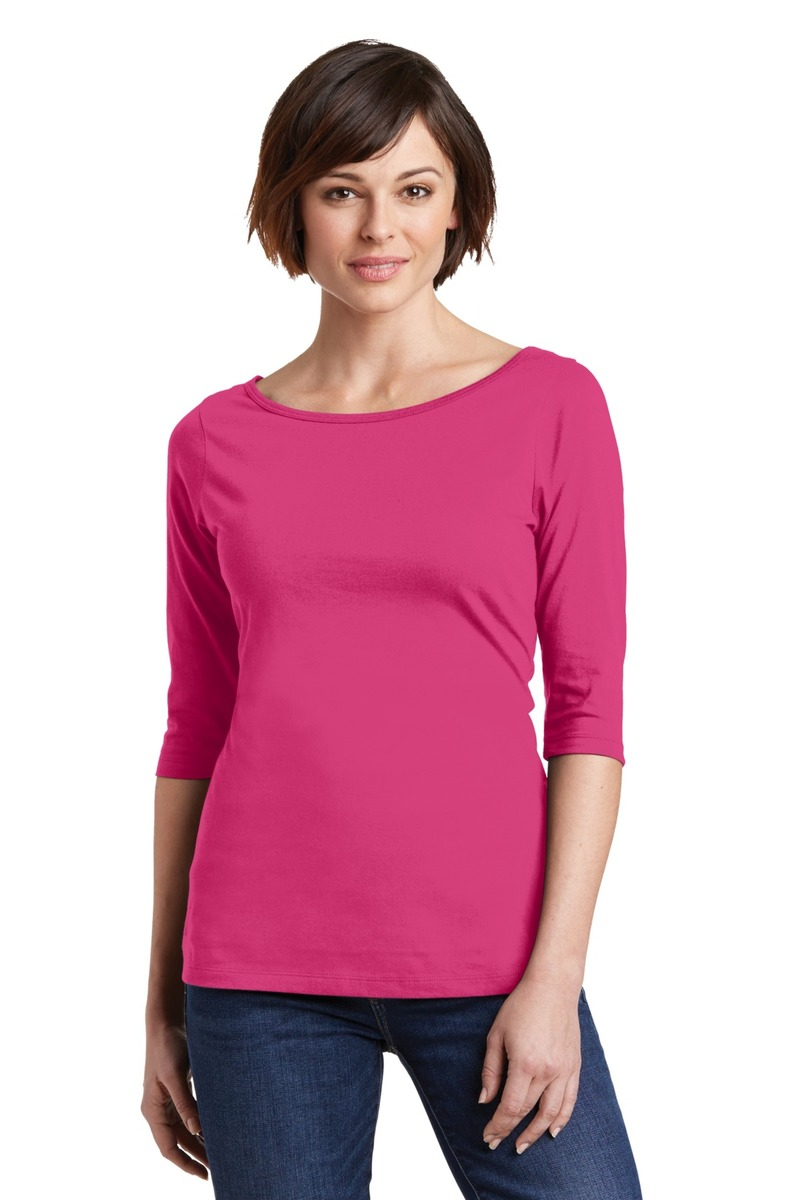 District Made Printed Women's Perfect Weight 3/4-Sleeve Tee