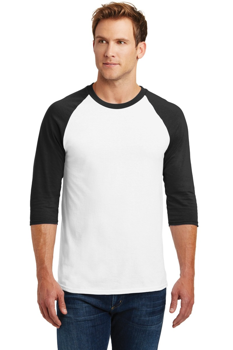 Gildan Embroidered Men's Heavy Cotton 3/4-Sleeve Raglan T-Shirt