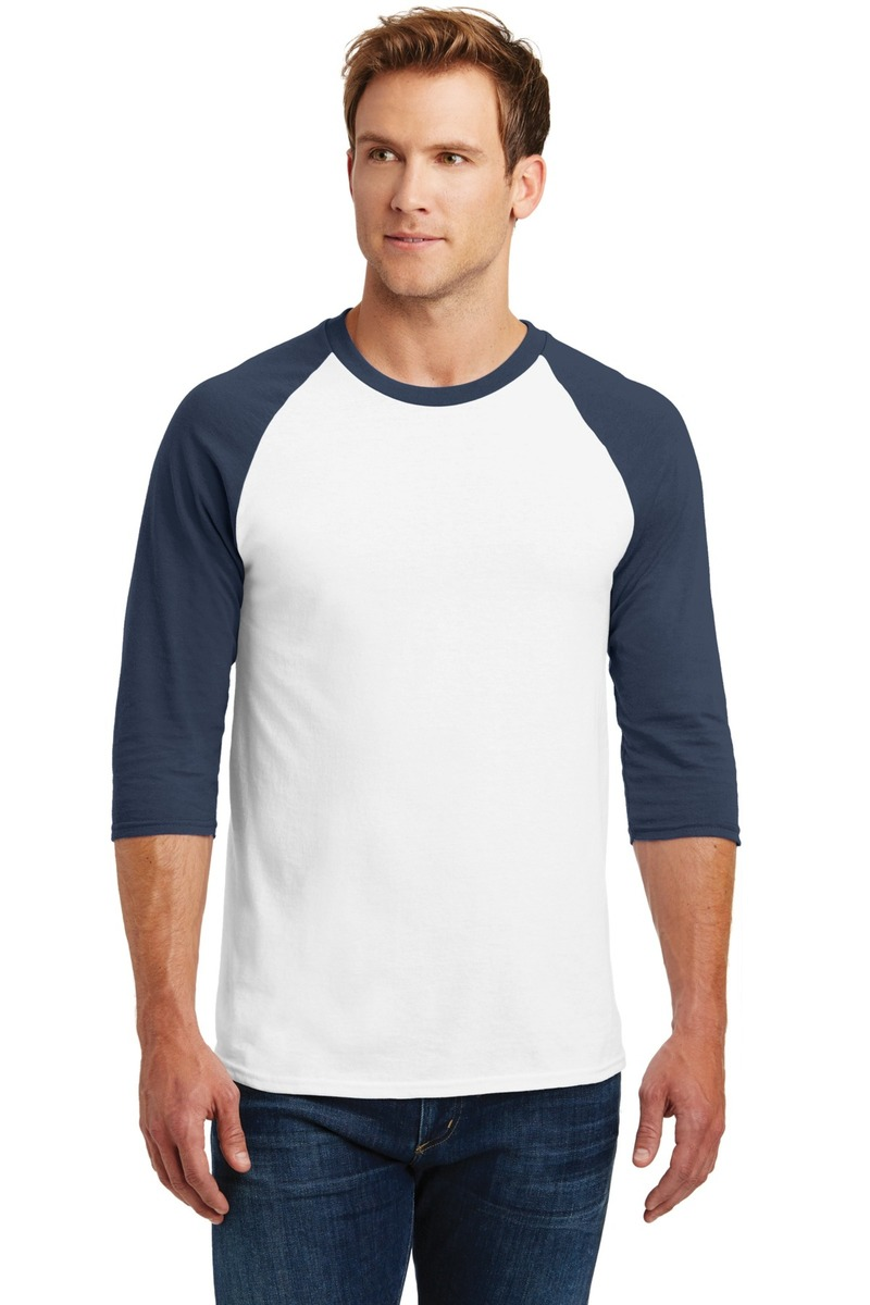 Gildan Printed Men's Heavy Cotton 3/4-Sleeve Raglan T-Shirt