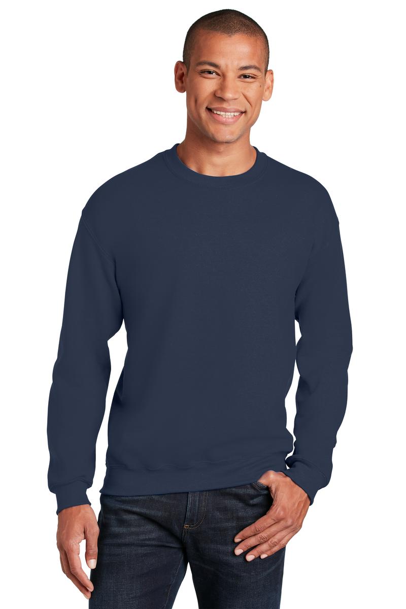 3cc75f0344db88 Gildan Embroidered Men s Heavy Blend Crewneck Sweatshirt - Queensboro