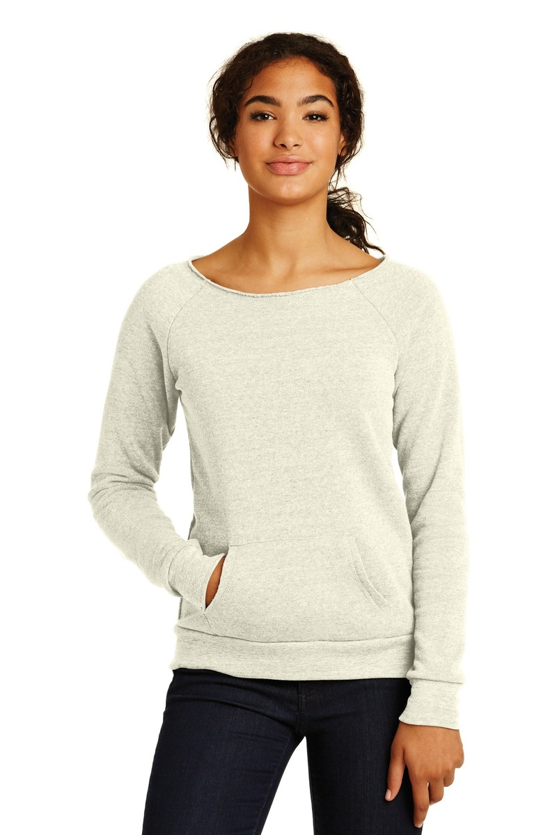 Printed Women's Off the Shoulder Eco-Fleece Sweatshirt