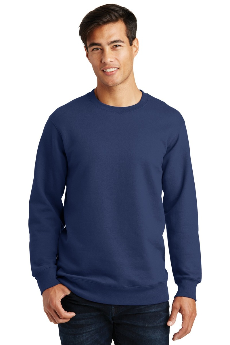 Port & Company Embroidered Men's Fan Favorite Fleece Crewneck Sweatshirt