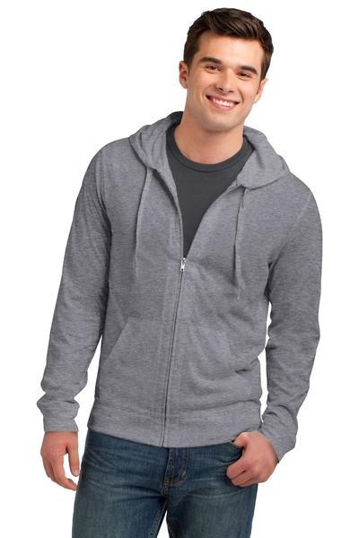 District - Young Mens Jersey Full-Zip Hooded Tee