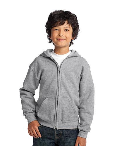 Printed Gildan Youth Full Zip Hooded Sweatshirt