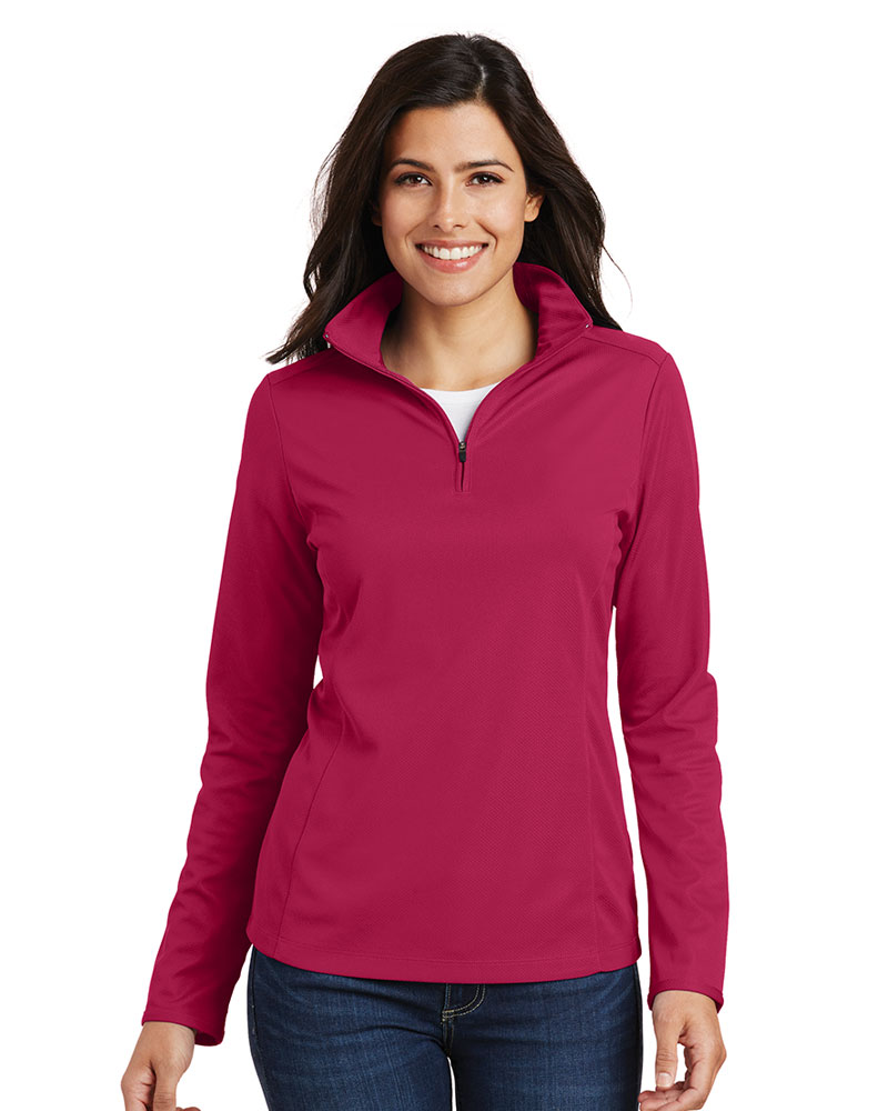 Port Authority Women's Pinpoint Mesh 1/2-Zip