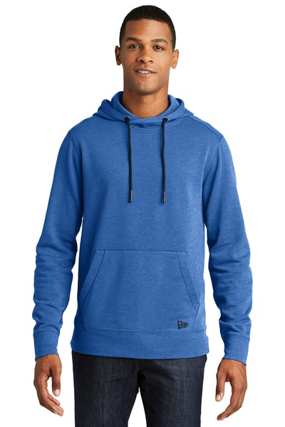 New Era Embroidered Men's Tri-Blend Fleece Pullover Hoodie