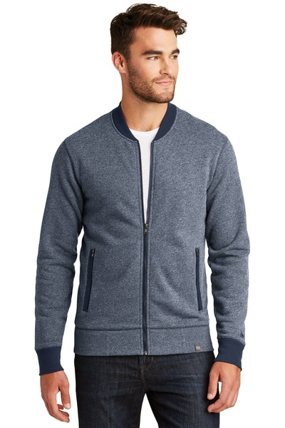 New Era Embroidered Men's French Terry Baseball Full-Zip