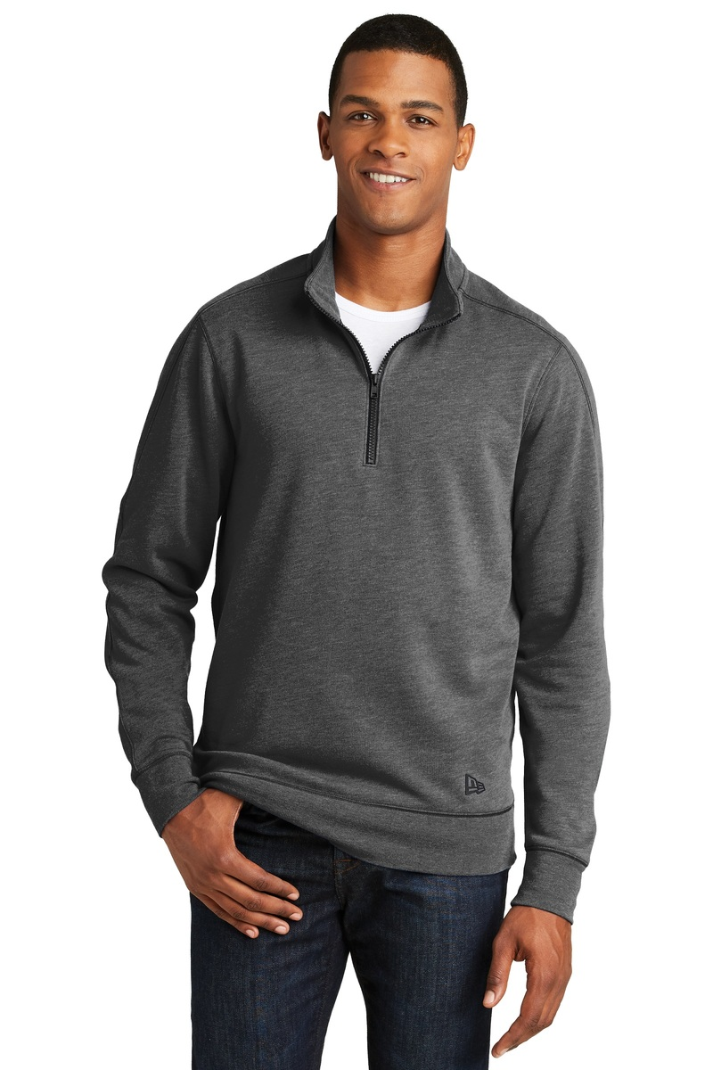New Era 1/4-Zip Pullover Tri-Blend Sweatshirt