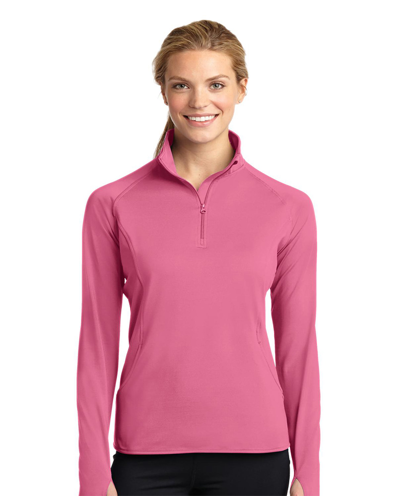 Sport-Tek Ladies Sport-Wick Stretch 1/4-Zip Pullover