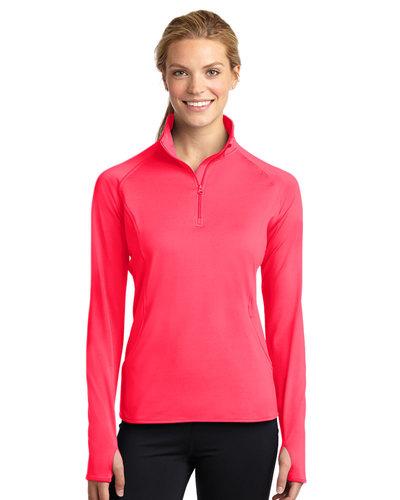 Printed Sport-Tek Ladies Sport-Wick 1/4-Zip Pullover