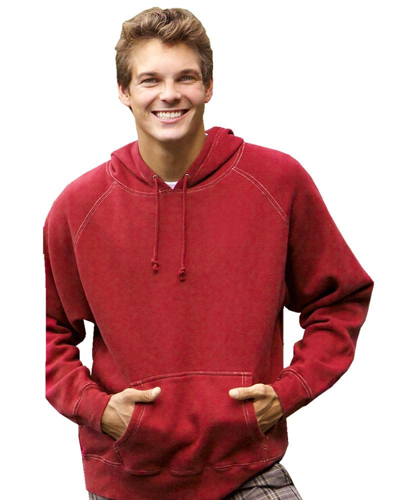 J. America Vintage Hooded Sweatshirt w/ Contrast Stitching