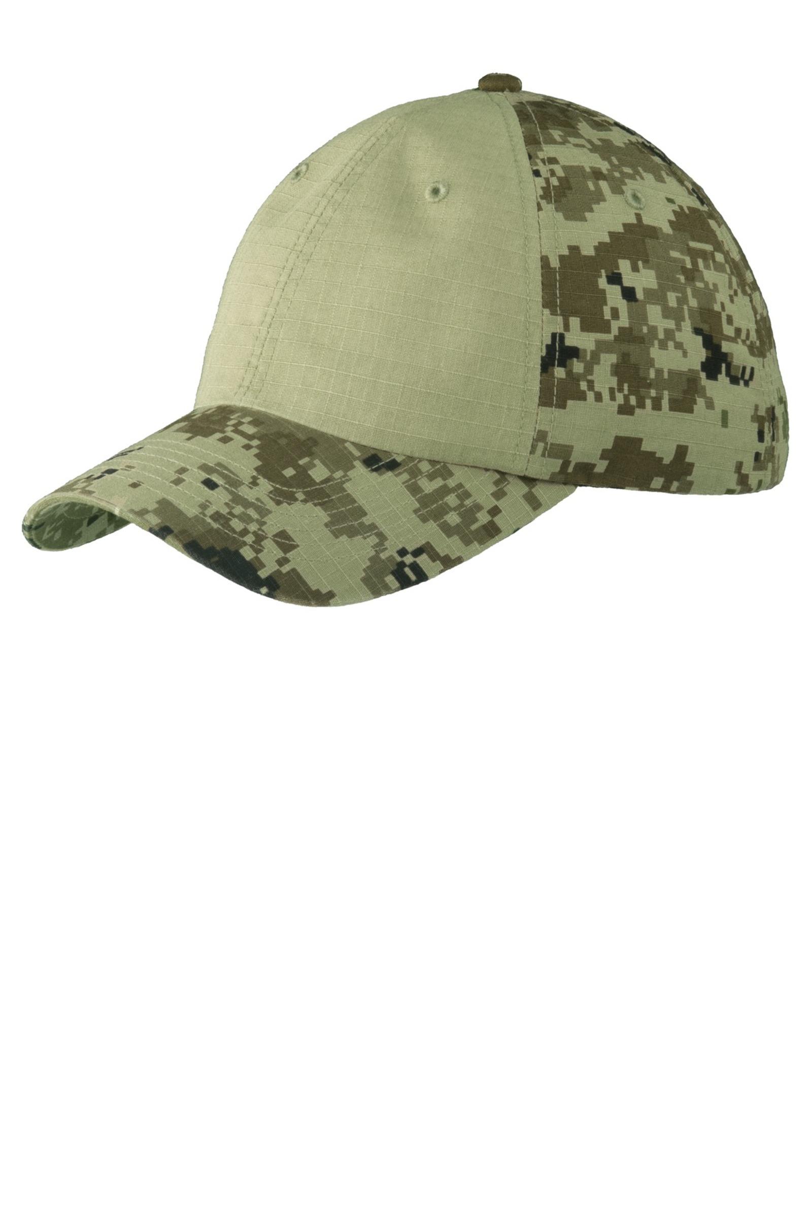 Port Authority Colorblock Digital Ripstop Camouflage Cap