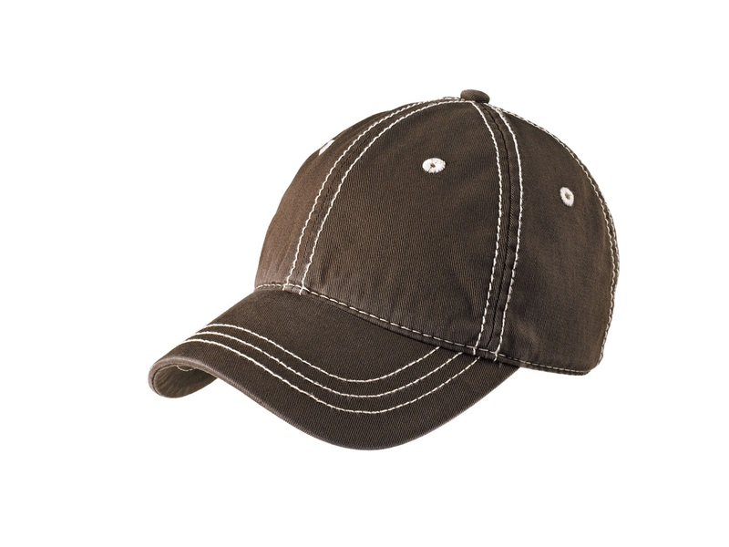 District  Embroidered Thick Stitch Cap